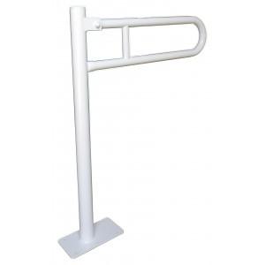 Uchwyt uchylny do toalety dla niepełnosprawnych.