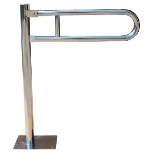 Poręcz uchylna do WC montowana do podłogi.