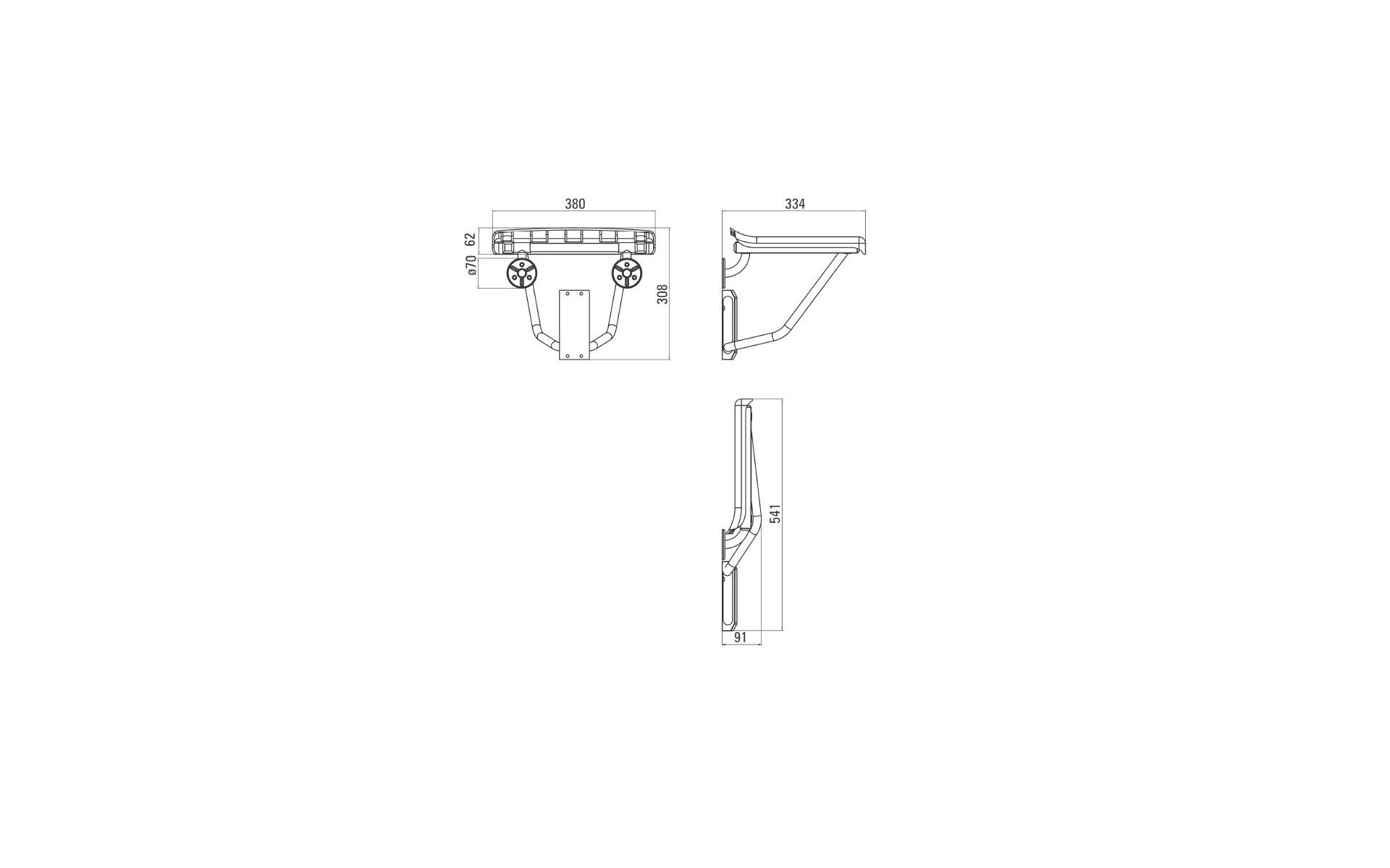 Taboret składany do kabiny prysznicowej - opis produktu.