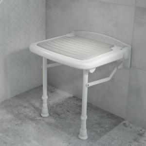 Siedzisko pod prysznic z nóżkami Deante Vital.