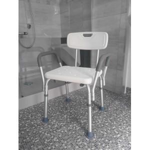 Krzesło pod prysznic z oparciem.