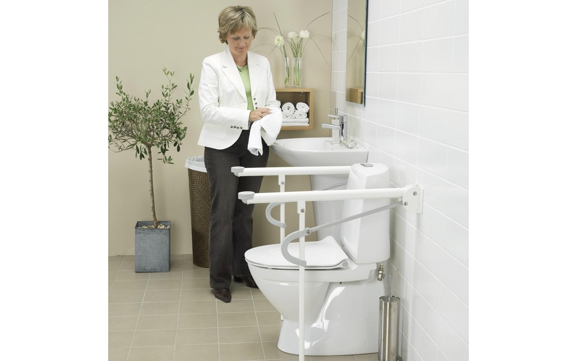 Bezpieczny uchwyt do WC Etac Optimal.
