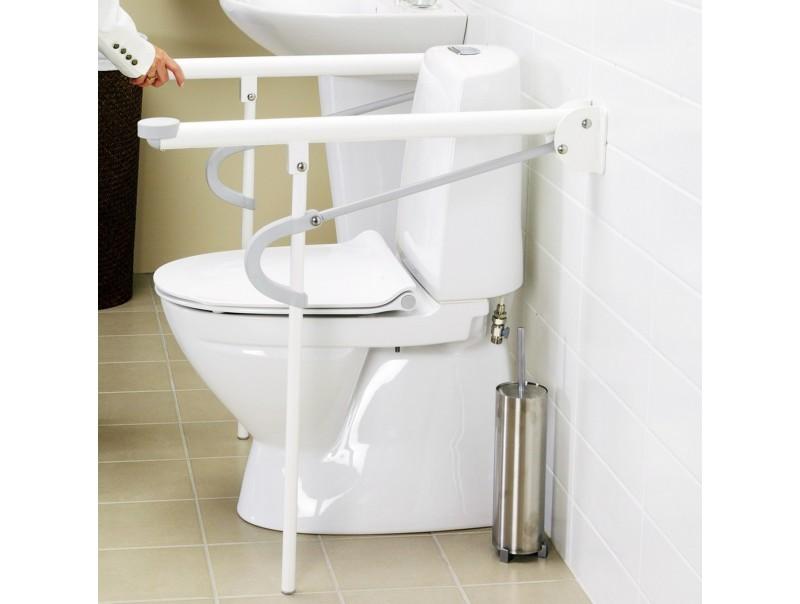 Uchwyty do toalety dla niepełnosprawnych.