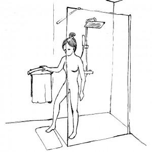 Uchwyt pod prysznic lub do wanny.