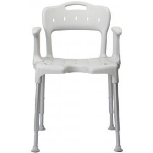 Krzesło pod prysznic z podłokietnikami.