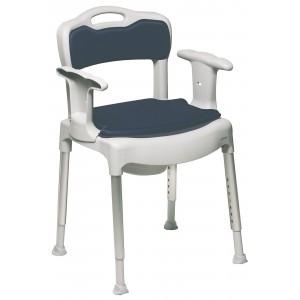 Krzesło pod prysznic i krzesło toaletowe w jednym.