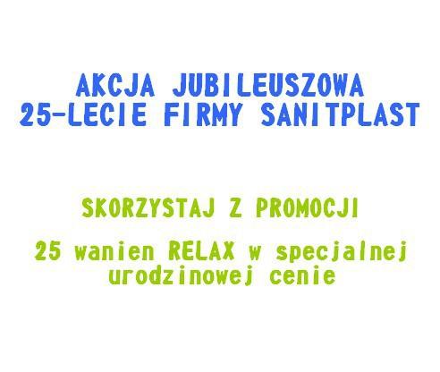 Promocyjna akcja jubileuszowa z okazji 25-lecia firmy SANITPLAST